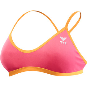 TYR Solid Trinity Top Dam fluo pink/orange